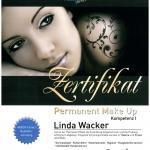 Zertifikat Frau Wacker Permanent Make-Up